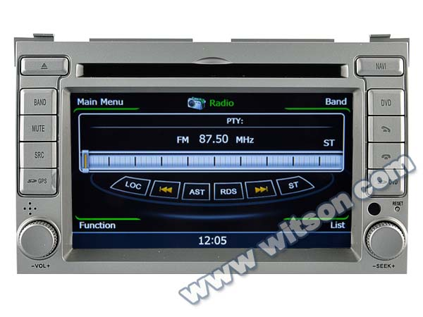 WITSON DOUBLE DIN CAR RADIO FOR HYUNDAI I20 A8 Chipset Dual Chipset,3G modem / wifi/ DVR (Option)