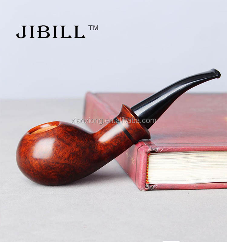 Modern Gentleman Wood Stove Pipe Weed Smoking Xiaoxiong Wooden Tobacco Pipes