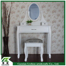 european modern style wooden dressing table/ white vanity dresser with mirror