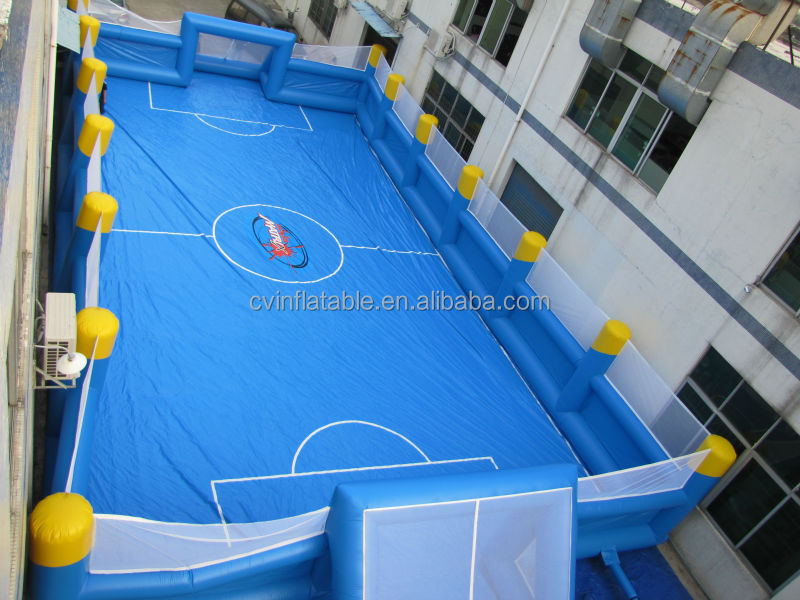Commercial inflatable football field, portable inflatable soccer pitch, inflatable soap football arena for sales