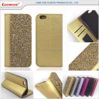 Diamond glitter cross pu leather case for iphone 6 6s 6c se 5 5s for i phone