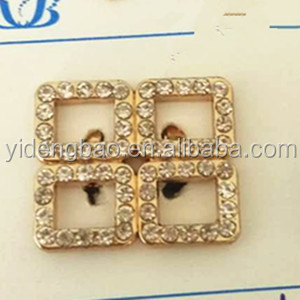 2017 Wholesale Small Metal buckles shoe buckle rhinestone buckle for shoes