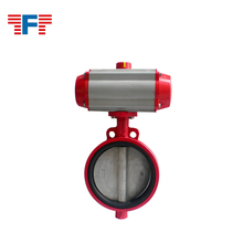 air operated pneumatic actuators control Two Tone butterfly valve