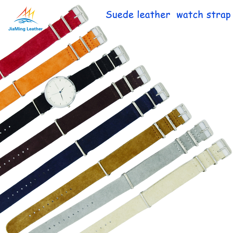 Hot Sale Multi Color Suede Nato Watch Strap