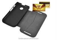 Standing function wallet leather phone case cover for Motorola moto E