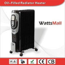 LCD Display Digital Electric Oil Filled Heater Radiator for Bedroom Living Room Used