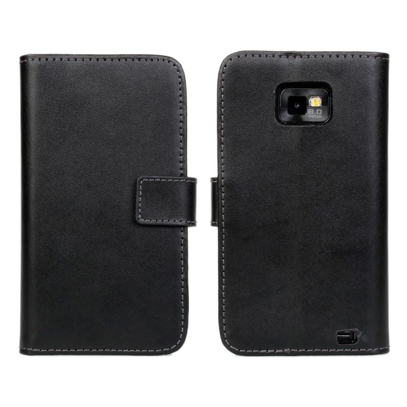 Genuine Leather Flip Case for Samsung Galaxy S2 i9100 Phone Cover 2013 New Arrival Black White 2 colors