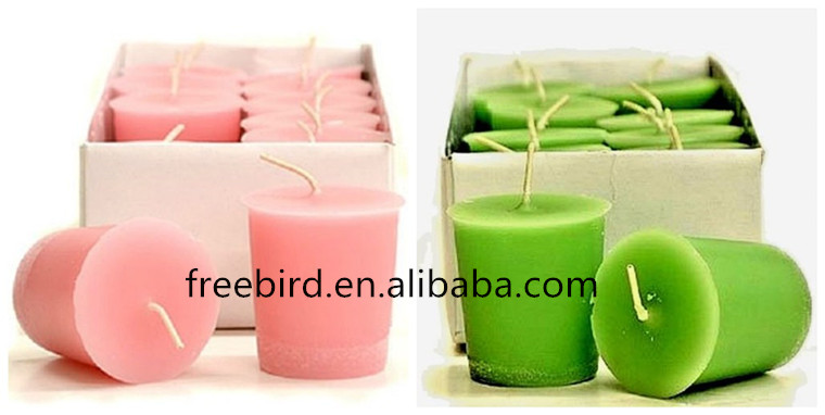 Pillar Green Wax Smokeless Handmade Scented Colorful Candle