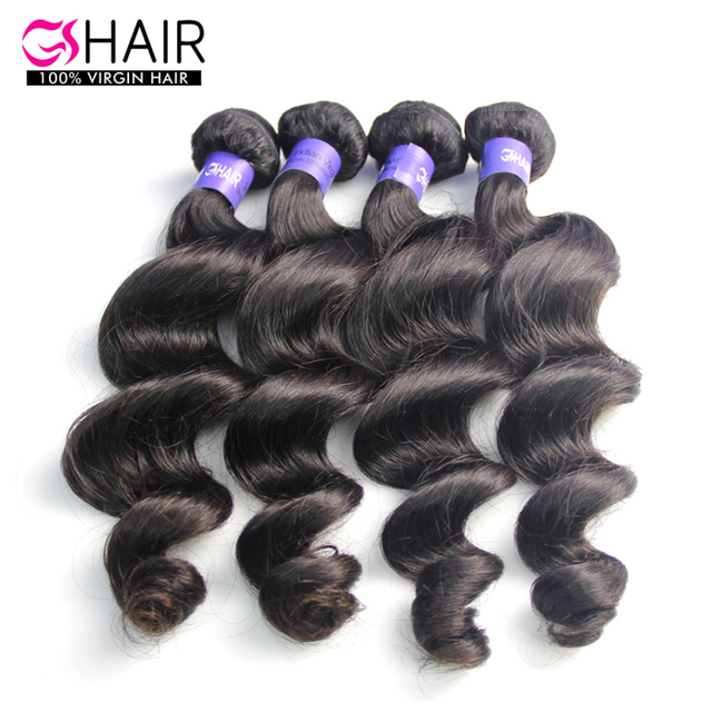 100 % unprocessed remy hair extension loose wave wefts indian wavy virgin hair