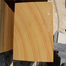 wooden veins yellow sandstone from China