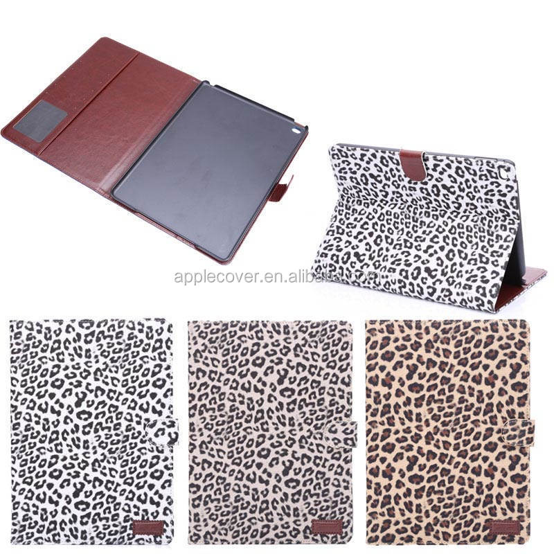 2014 Most popular leopard pattern leather case for ipad air 2, animal shape case for ipad
