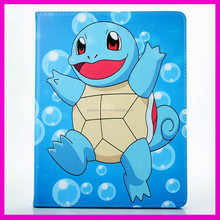 2017 Hot Sale Quality Cheap Factory price Pokemon Go Leather Flip Stand Case for Ipad Air, Premium PU Leather Cover for Ipad