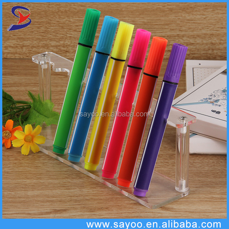 Promotional novelty multi color highlighter pen