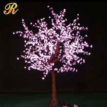 Color change led blossom christmas cherry tree for garden decoration