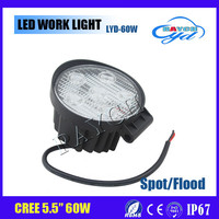 factory direct offer 5.5 inch cob 45w 60w led work light 4d spot wide beam c ree led work light with CE ROHS IP67