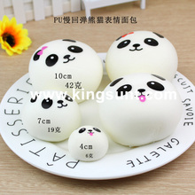 Kawaii 10cm and 7cm and 4cm panda super soft squishy squeezing funny toy for office staff