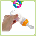 Custom FDA silicone squeezed infant feeding bottle spoon baby food feeder