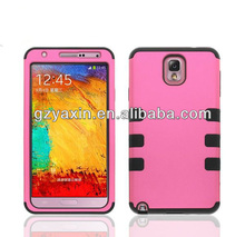 Hot selling combo for samsung galaxy note 3 cute case sell at a low price