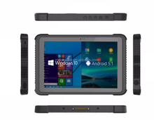 Intel 10 Inch Window 10 Tablet IP65 Military Rugged with NFC Barcode Reader Truck Mounting System