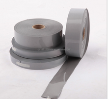 Heat transfer Iron on silver grey reflective tape,heat press silver white reflective tape