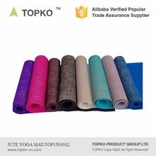 China Supplier New Product Anti-slip Private Label Printed Natural Jute TPE Rubber Yoga Mat