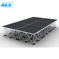 high quality folding aluminum portable stage platform/assembly panel stage