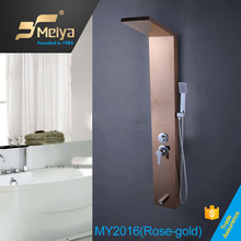 New Design Brass Shower And Bathtub wall mounted multifunctional SPA shower panel in shower room