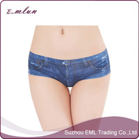 Jean Legging Fashion Lady Imitation Jean Woman Unerwear Thong