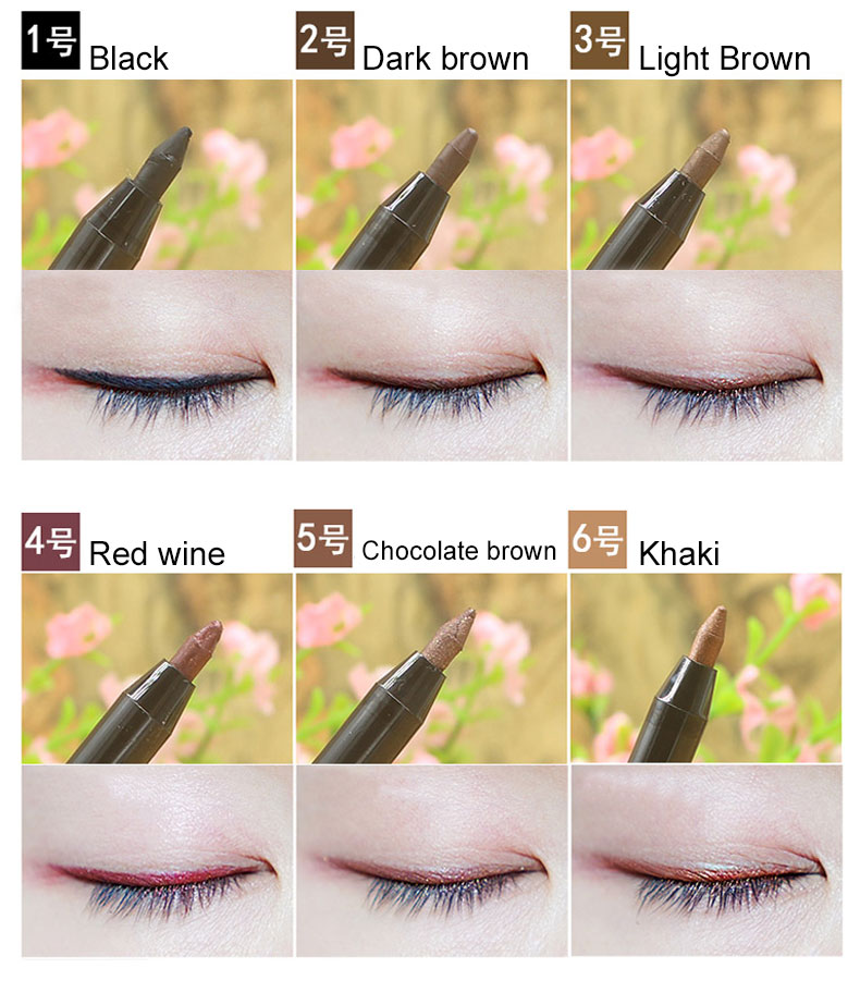 OEM Makeup Private Label Colored Eyeliner Gel Pen Long Lasting Smudgeproof Waterproof Eye Liner Gel Pencil