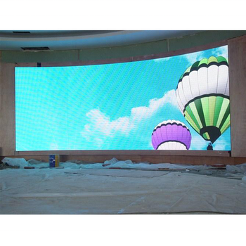 Curved Indoor/outdoor P3.91mm Small Pitch Curved Flexible Led Display Screen For Advertising