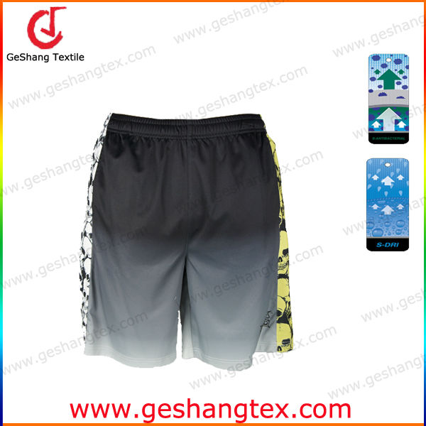 men Antibacterial quick dry compression gradient color shorts
