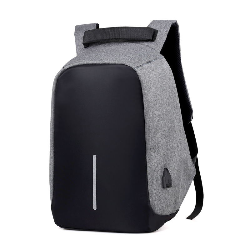 Multifunctional antitheft external frame laptop backpack bag with outer usb mobile phone charger