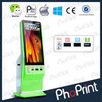 OEM LCD large photo portable oem photo cabin advertising machine custom made wifi/4g vending mobile photo printer oem supply