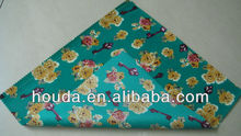 printed green polyester fabric with pvc coating for table cloth