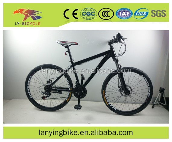 the latest model and hot selling double disc brake 18 speeds steel mountain bike / mtb bycicle