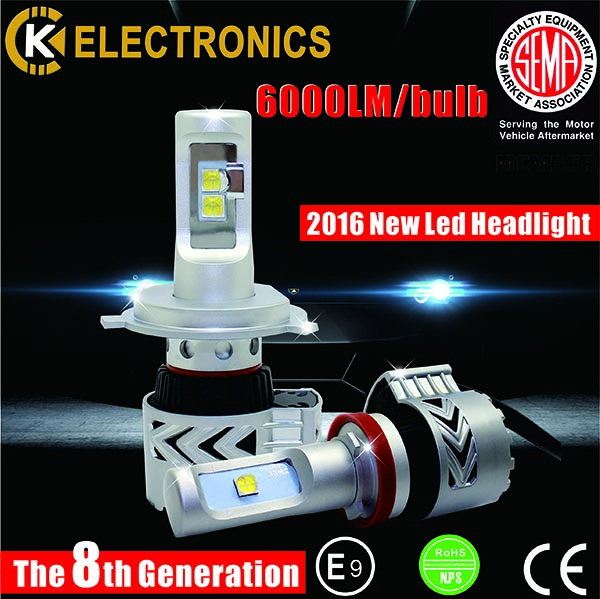 New arrival H7 H4 auto led headlight kit with cree chip