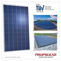 Propsolar SGS,TUV certificate poly 250w with best price per watt solar panels