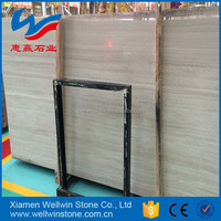 Competitive price for White Wooden marble tiles and slabs