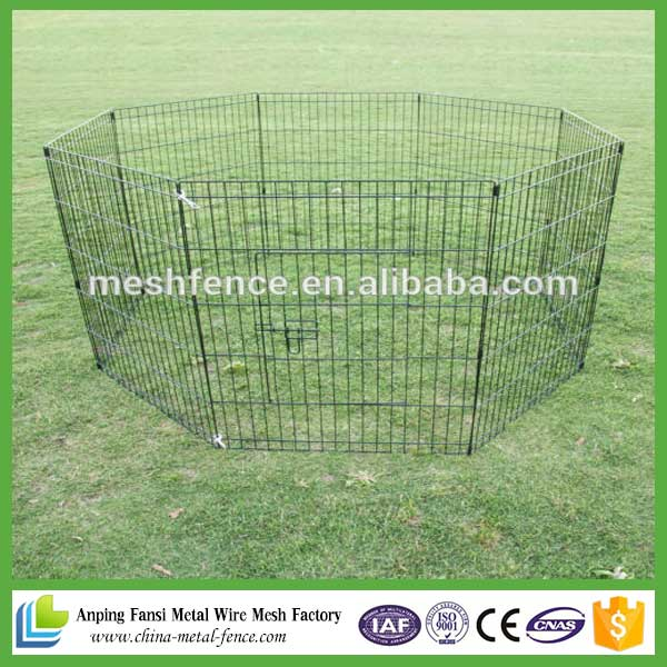 Wire fence dog excercise yard folding playpen.
