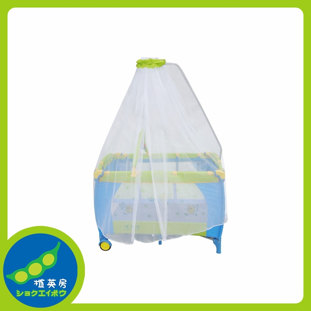 Made in china folding multifunctional baby play bed with mosquito net