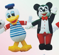2016 Latest customized animal inflatable fixed carton Donald Duck for promotion for advertising