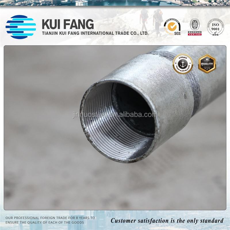 Mild threaded galvanized steel pipe