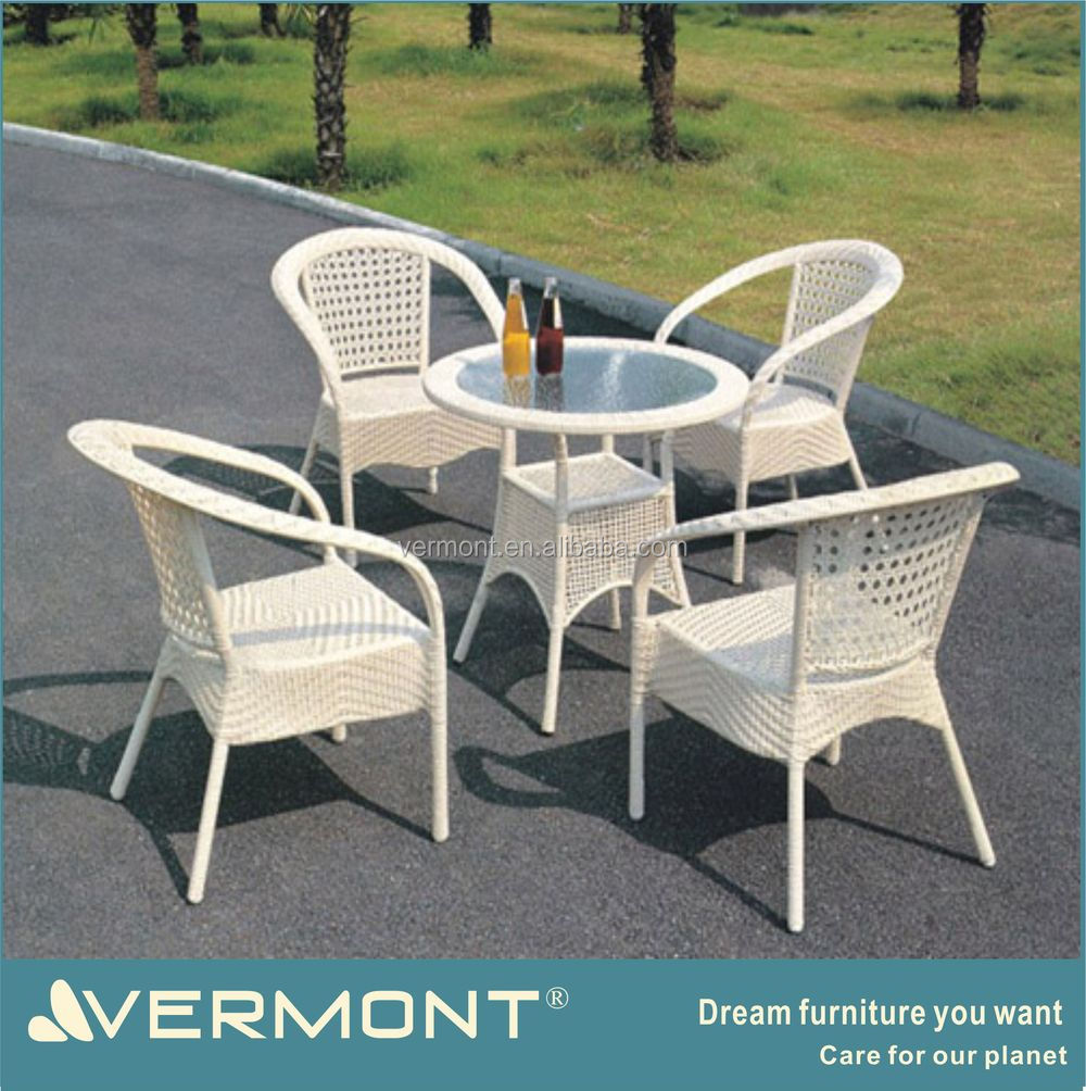 Rattan Outdoor Furniture Garden Sets White Table And Chair