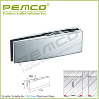 High quality hardwarech accessories stainless steel Bottom glass door patch fitting