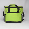 Green color large 1.5l 6 bottle wine carrier cooler bag