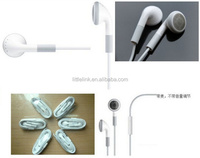 Wired in ear plastic earphone for mobile phone