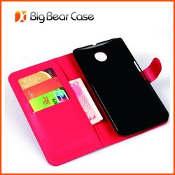 Factory flip pu leather case for google motorola nexus 6