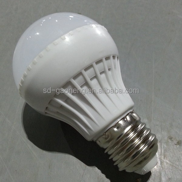 high quality white 5W plastic LED bulb uesd for indoor illumination