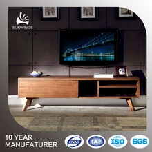 LCD TV wooden cabinet design with showcase for living room