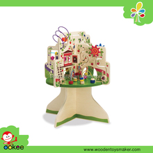 Wooden toy Tree Top activity center for kids education